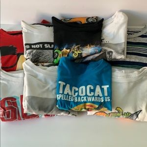 Size 10/12  Lot of Boys Graphic T-shirts 27PE